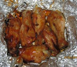 Honeyed chicken wings